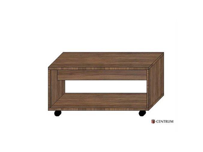 konferenční stolek obdélník, s nikou na kolečkách (deska 25 mm)
