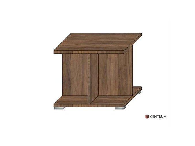 konferenční stolek čtverec, s křížovým podstavcem (deska 25 mm)