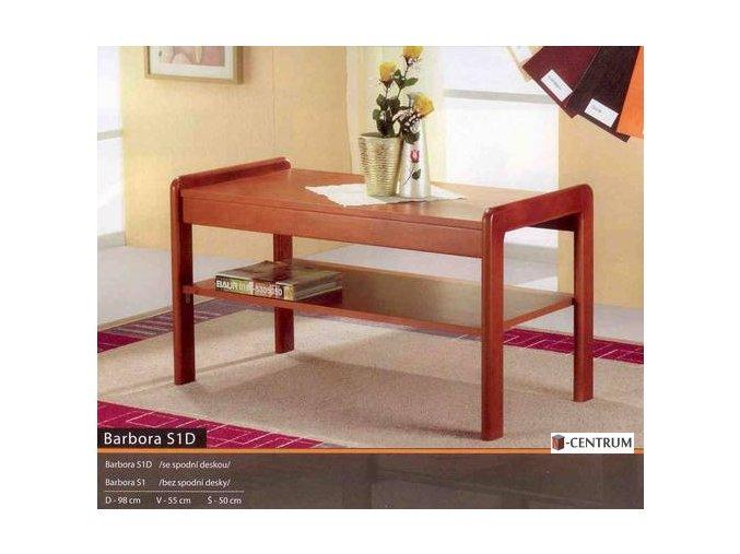 Fagus konferenční stolek BARBORA s odkládací deskou 100 x 50 cm