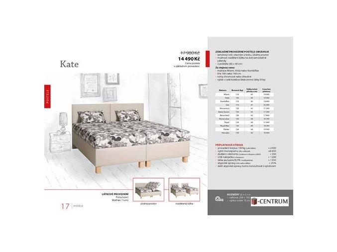 Dvoulůžko Kate 180x200
