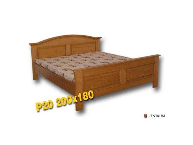 Dřevěná postel, dvoulůžko Klaudie P20