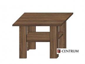 konferenční stolek čtverec 70x70 cm, s policí