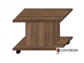 konferenční stolek čtverec 70x70 cm, na kolečkách