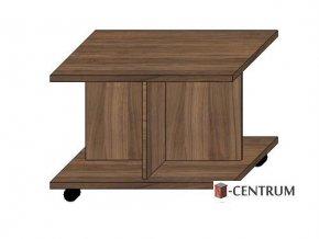 konferenční stolek 70x70 cm s křížovým podstavcem, na kolečkách