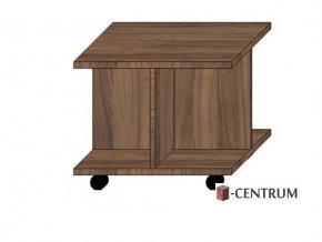 konferenční stolek čtverec, s křížovým podstavcem na kolečkách (deska 25 mm)