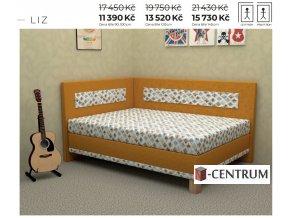 Rohová postel Lucia 120 cm vystavená na prodejně