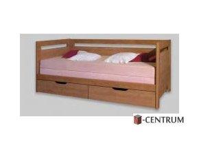 TANDEM  klasik s vysokými čely - rozkládací postel s úložným prostorem