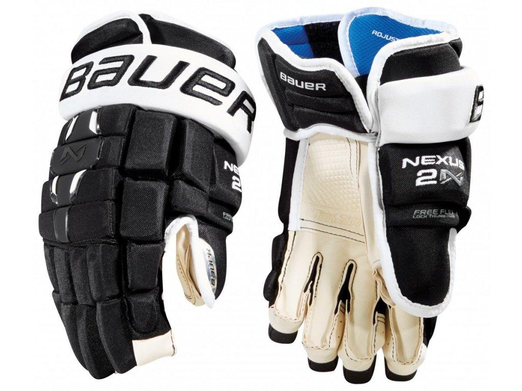 "Hokejové rukavice BAUER NEXUS 2N SR 15"" BK/WH (černo-bílá), 2018 - 105308215BK/WH"