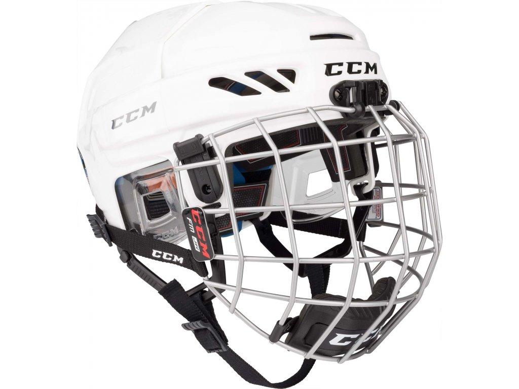 Hokejová helma CCM FitLite 3DS - JR (Junior) Red (combo)