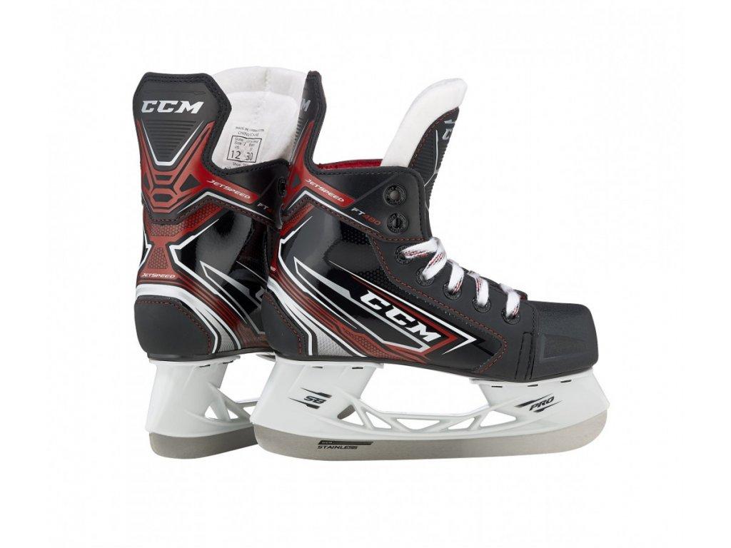 Hokejové brusle CCM JetSpeed FT480 - Yth (Dětské) 10 Black D