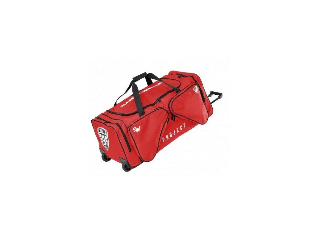 taska sher wood t90 wheel bag sr červená