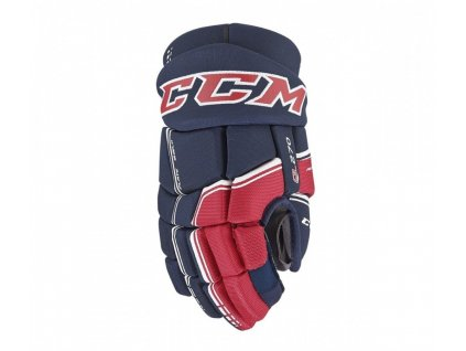 Hokejové rukavice CCM QLT 270 - JR (Junior) 12 navy/sunflower - modrožlutá