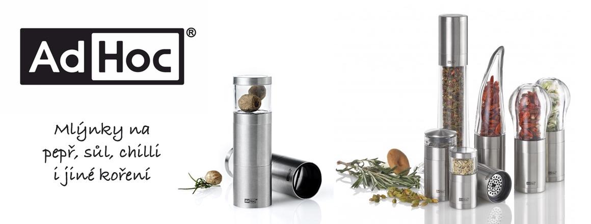 AdHoc - kvalitní mlýnky na sůl, pepř, chilli a jiné koření