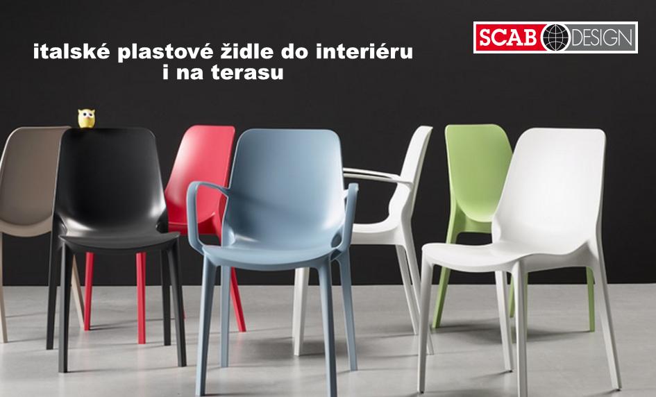 SCAB DESIGN - italské plastové židle do interiéru i na terasu