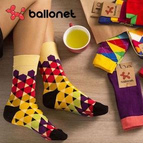 Balonet - stylové barevné ponožky