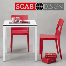 Scab - italské plastové židle do interieru i exterieru, barové židle