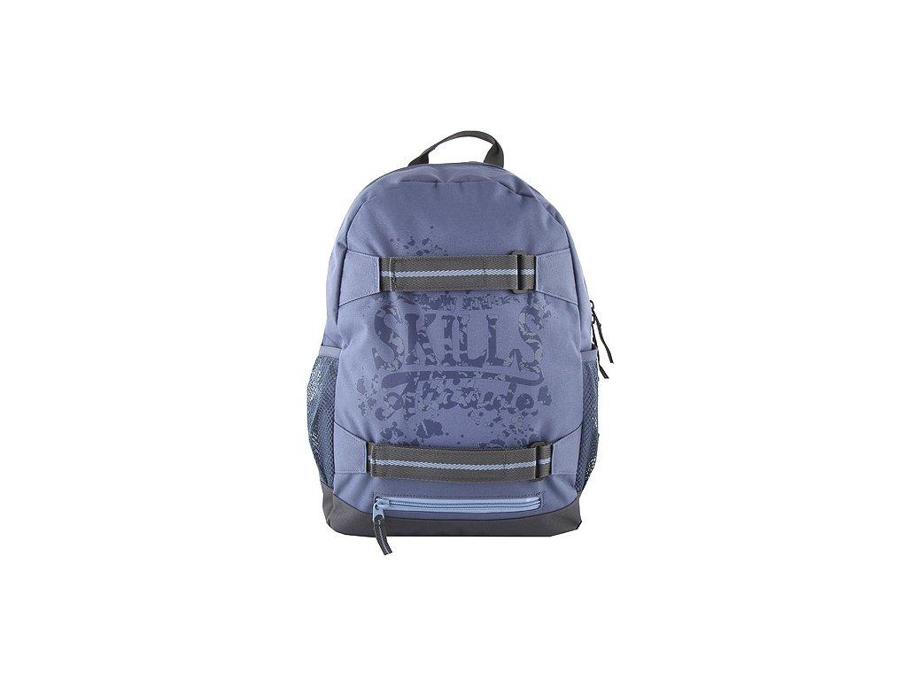 7Skills designový batoh se skate popruhy modrý