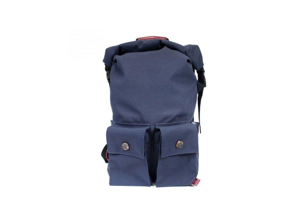 PKG batoh DRI Rolltop Backpack - Navy Burgundy
