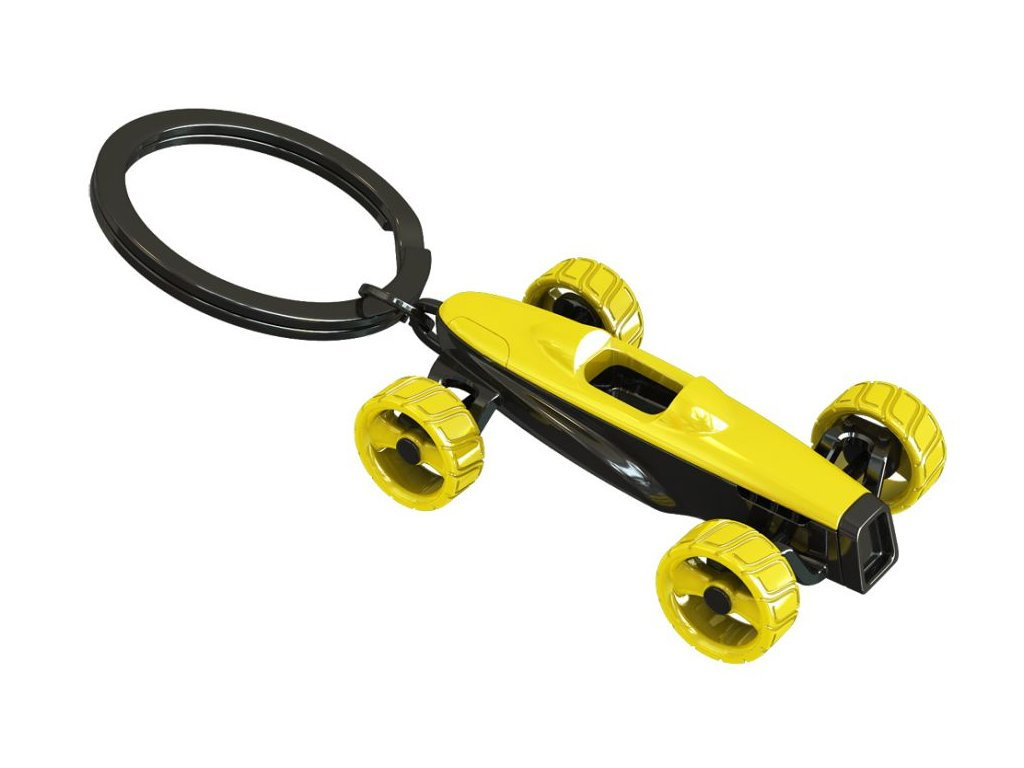 MTM - klíčenka - formule žlutá