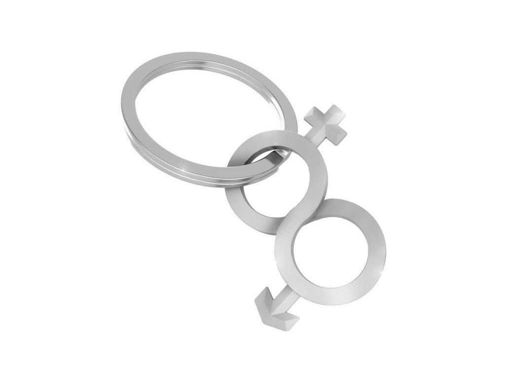 MTM - přívěsek na klíče pro zamilované - kluk + holka