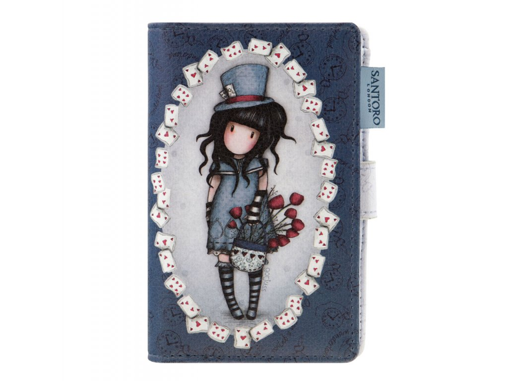 SANTORO - menší peněženka Gorjuss The Hatter