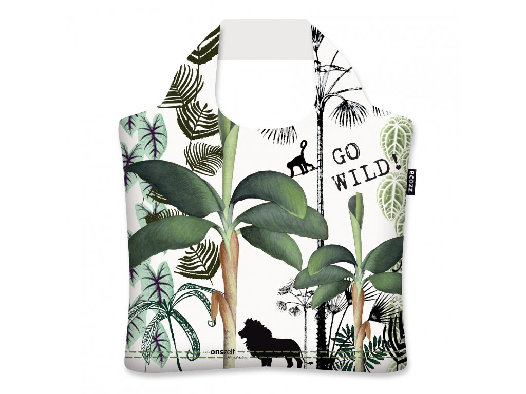 ECOZZ nákupní taška Silver collection Studio Onszelf - Jungle