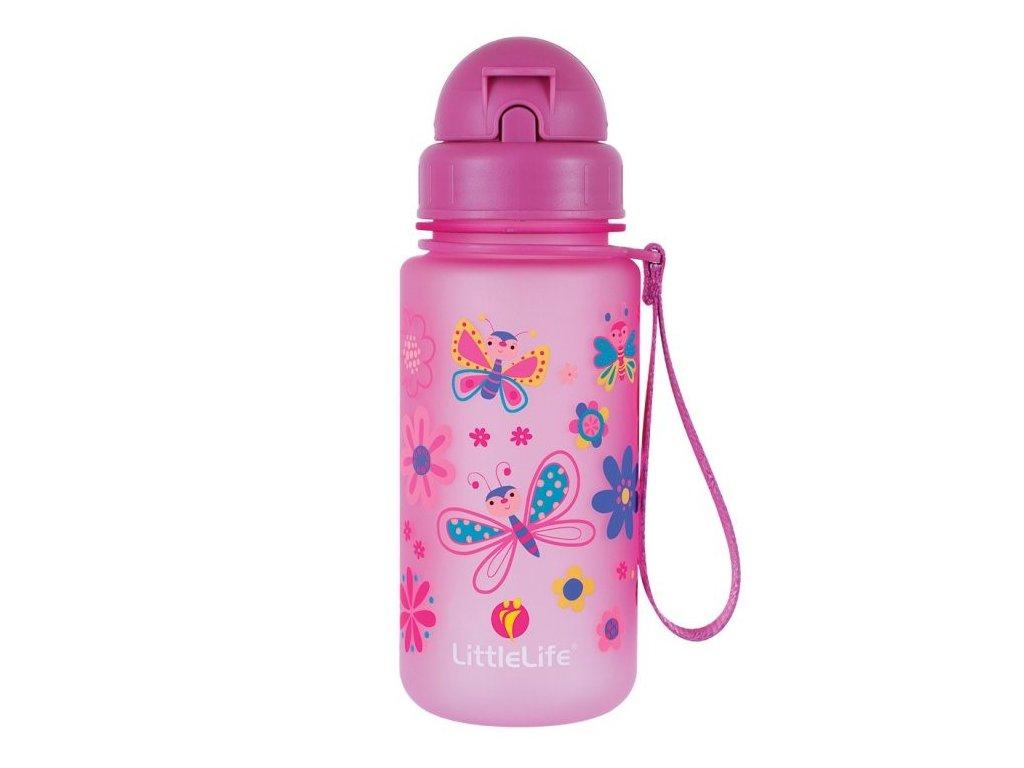 LittleLife lahev pro děti Animal Bottle 400 ml butterflies