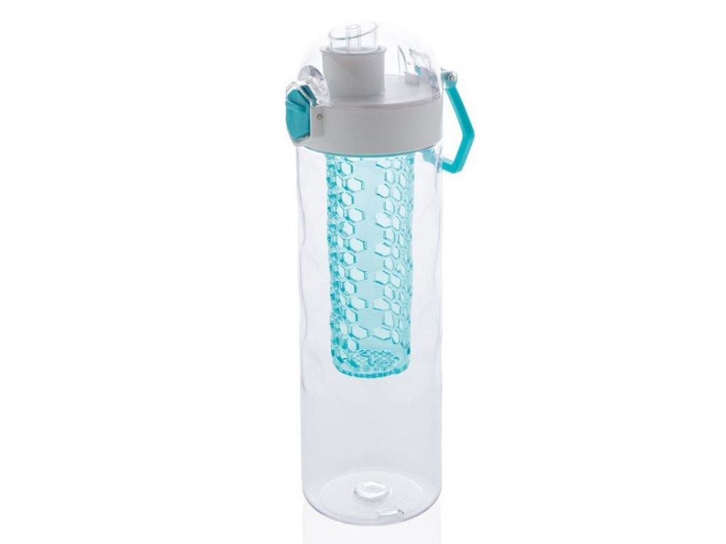 XD Design láhev s košíkem na ovoce 700 ml modrá