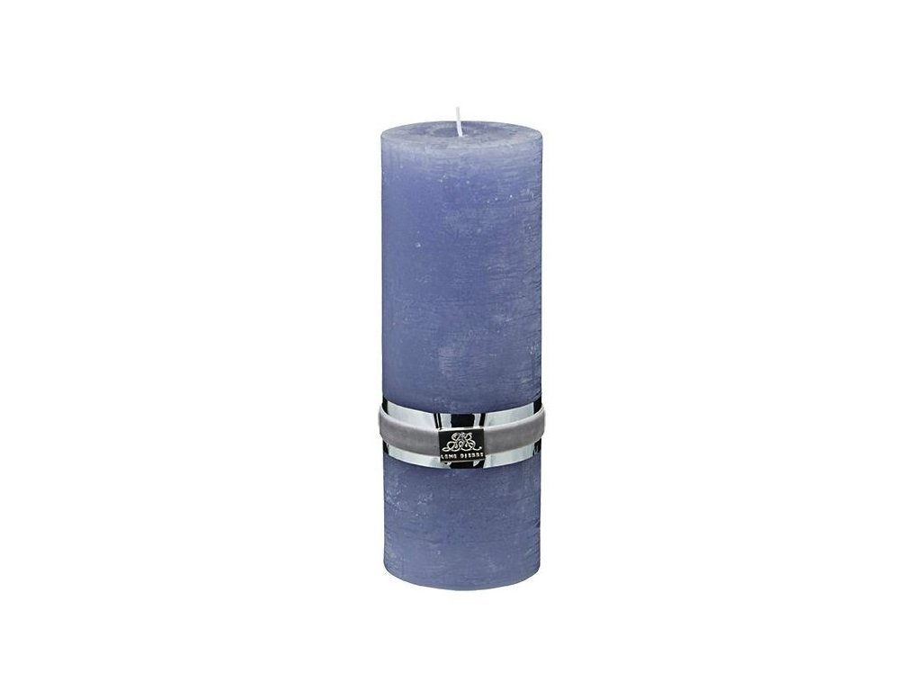 Lene Bjerre - svíčka Rustic  - levandulová 20 cm