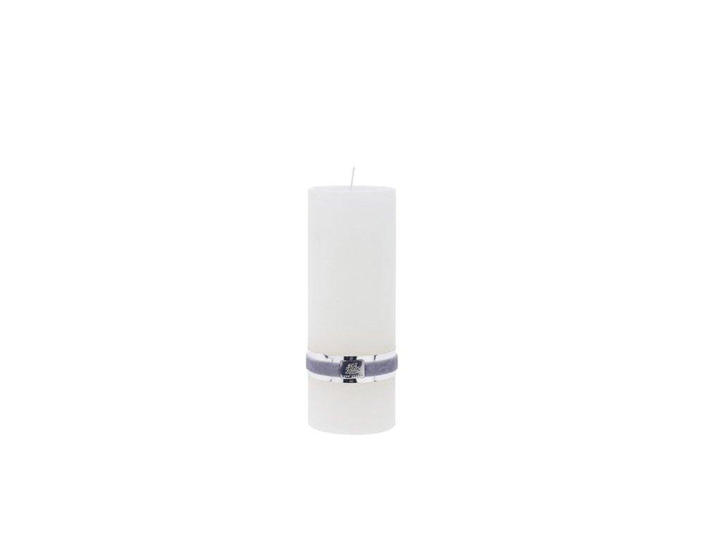 Lene Bjerre - svíčka Rustic  - bílá medium
