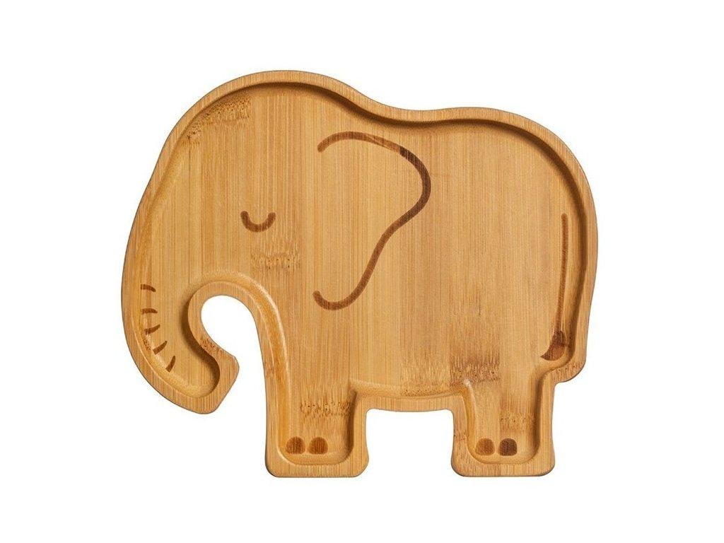Sass & Belle bambusový talířek Woodland Elephant