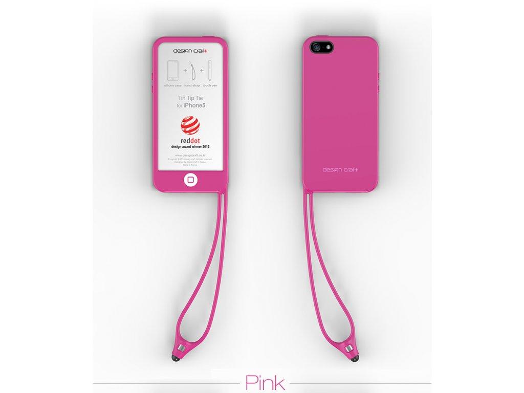 Tin Tip Tie pouzdro pro iPhone 5 růžové