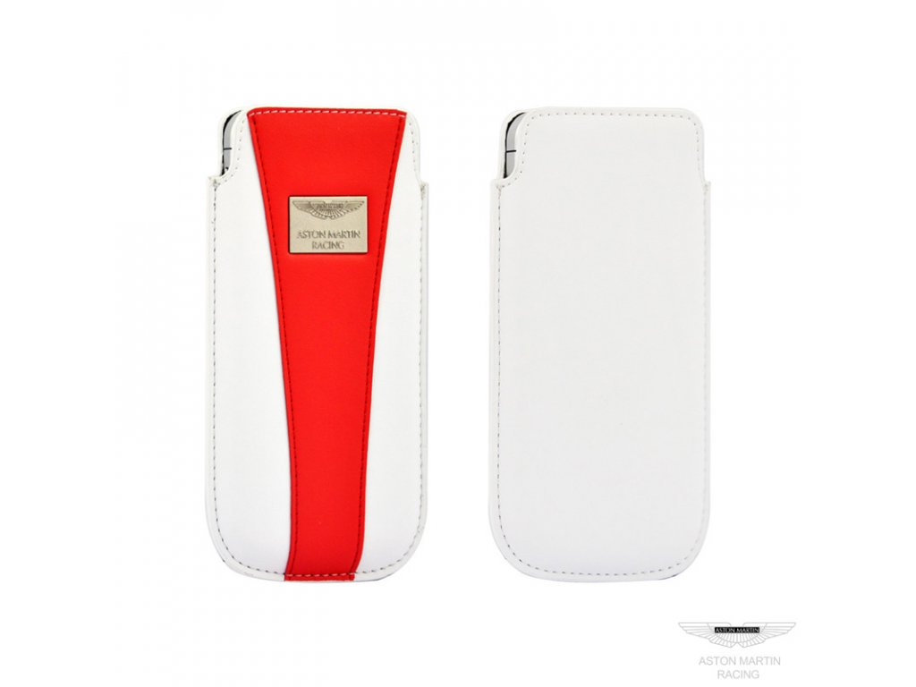 Aston Martin Racing Pouch Case pouzdro pro iPhone 5 (White/Red)