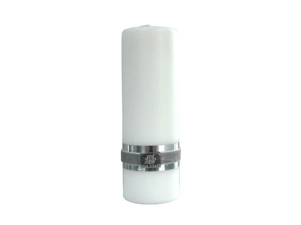 Lene Bjerre - svíčka Basic bílá 18 cm