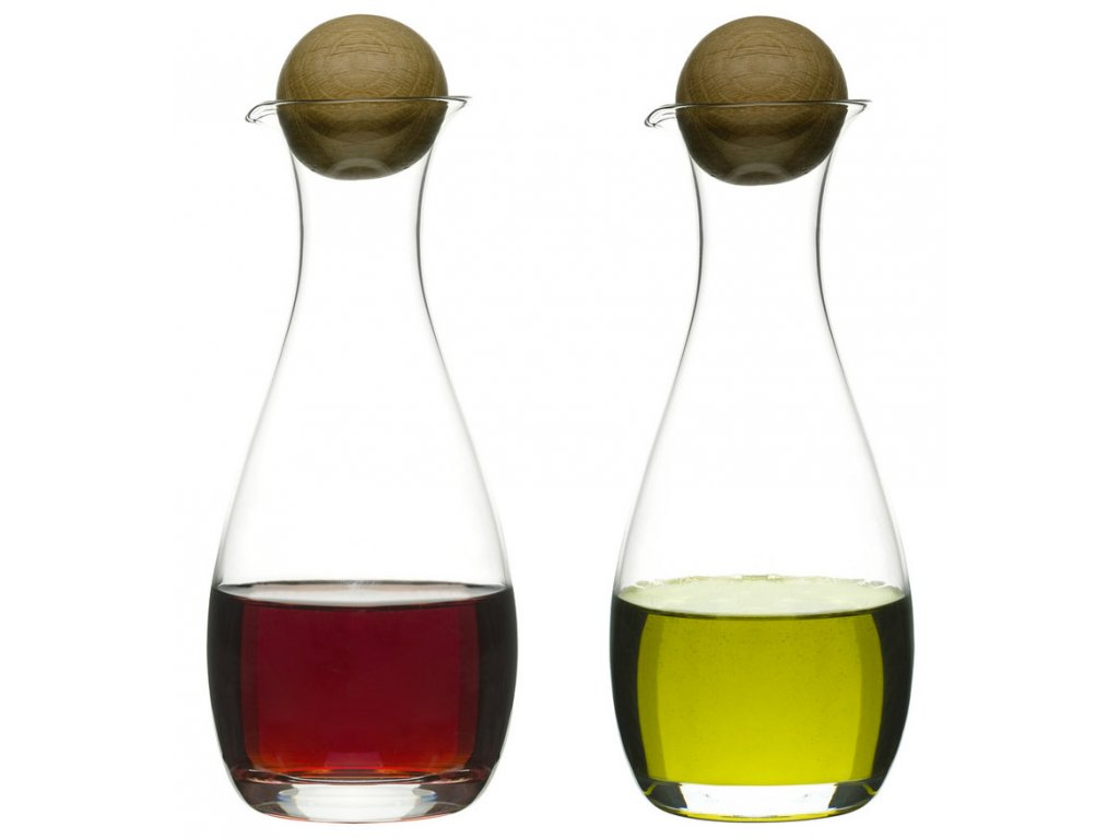 Sagaform - Sada olej a ocet  Oval Oak, 30cl
