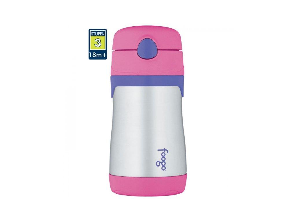 Thermos - Kojenecká termoláhev FOOGO - růžová