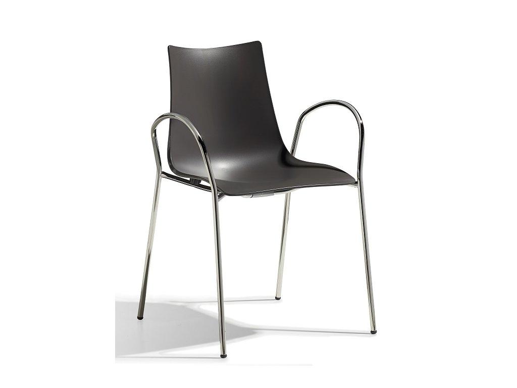 SCAB - židle ZEBRA technopolymer s područkami