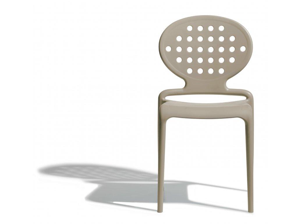 SCAB - židle COLETTE světle šedohnědá