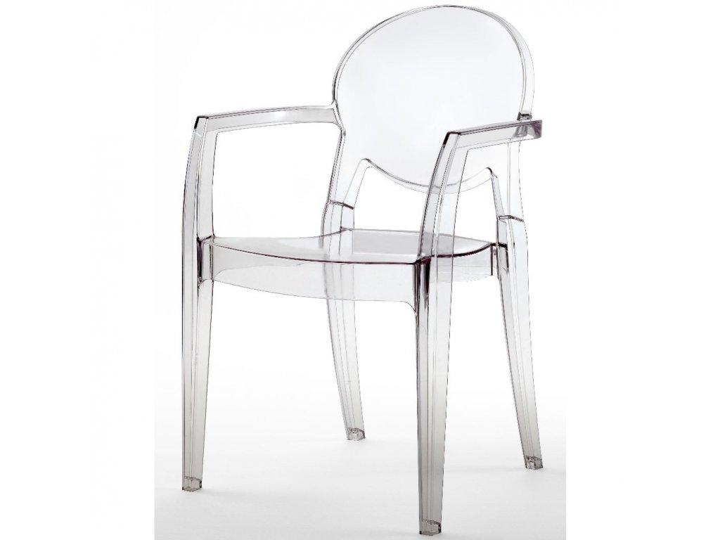 SCAB - plastová židle s područkami IGLOO