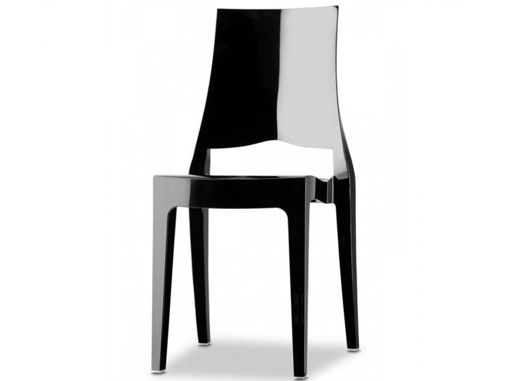plastová designová židle GLENDA od SCAB černá