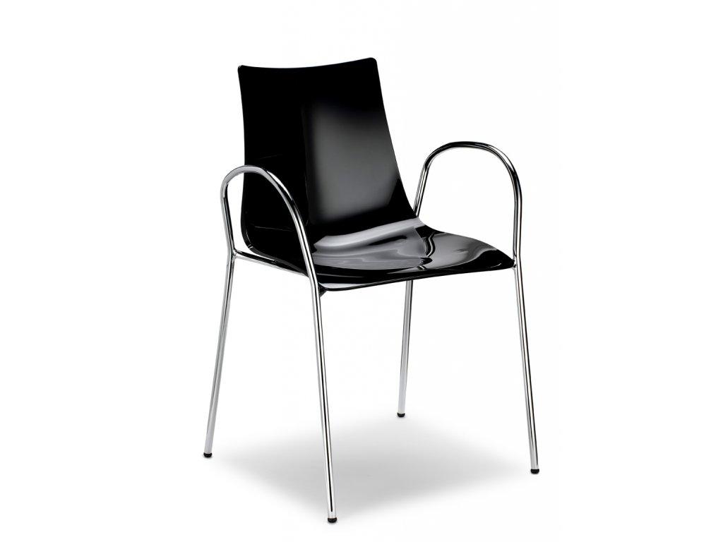SCAB - plastová židle ZEBRA ANTISHOCK s područkami
