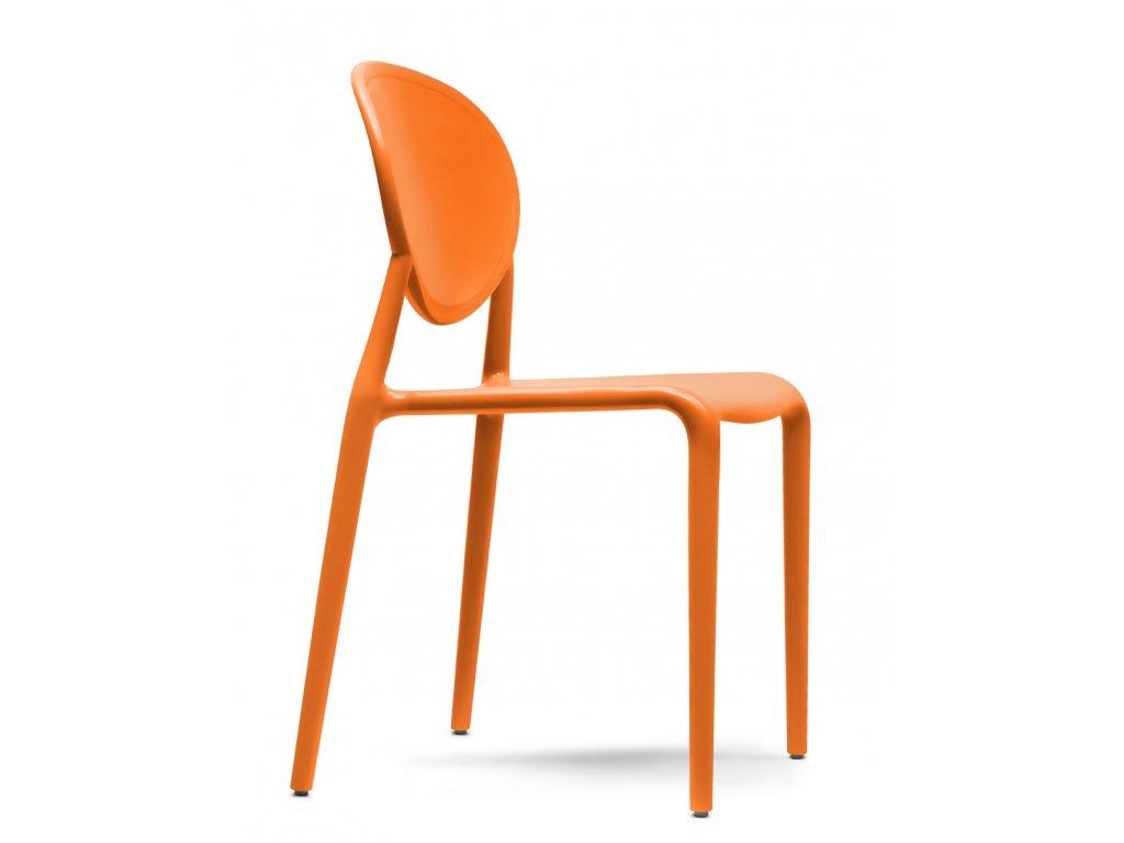 plastová židle scab gio oranžová