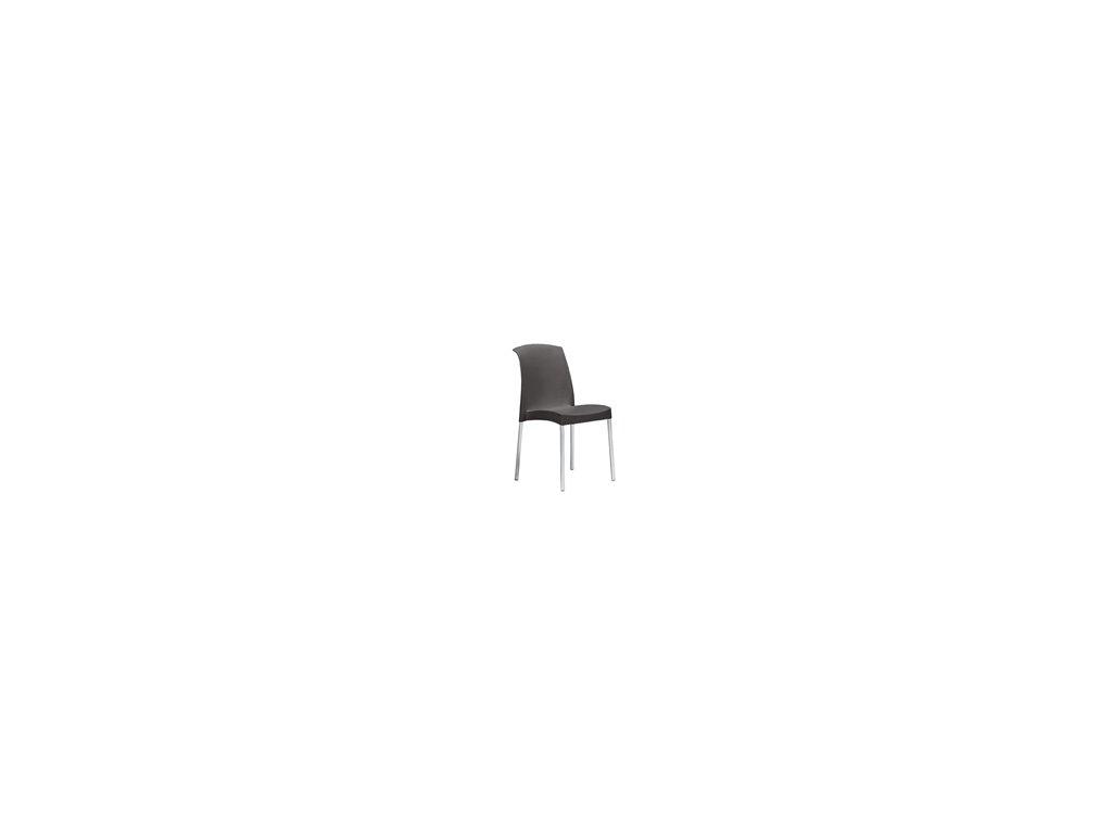 SCAB - plastová židle JENNY antracitová