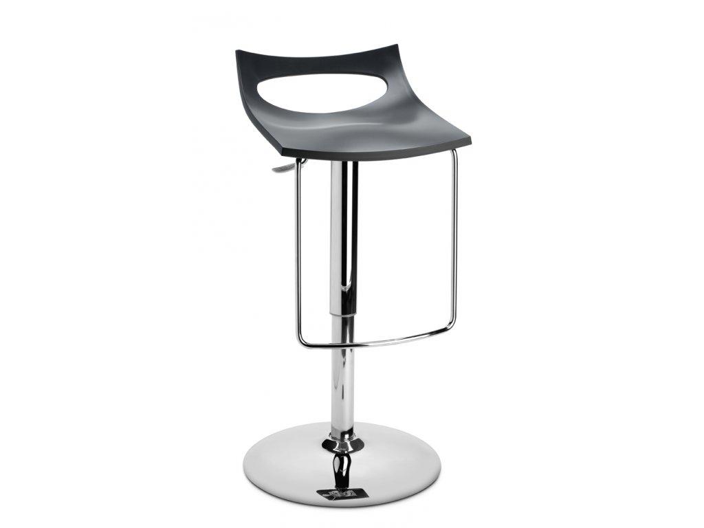 SCAB - otočná barová plastová židle DIAVOLETTO U antracitová