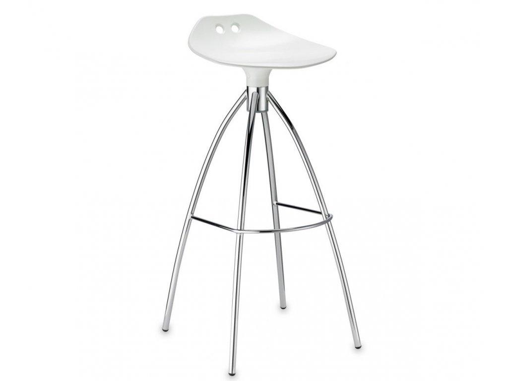 SCAB - barová plastová židle FROG FIX bílá