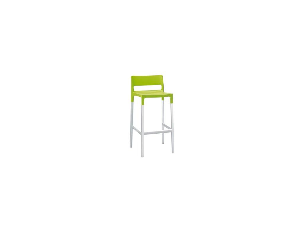 SCAB - barová plastová židle DIVO zelemá