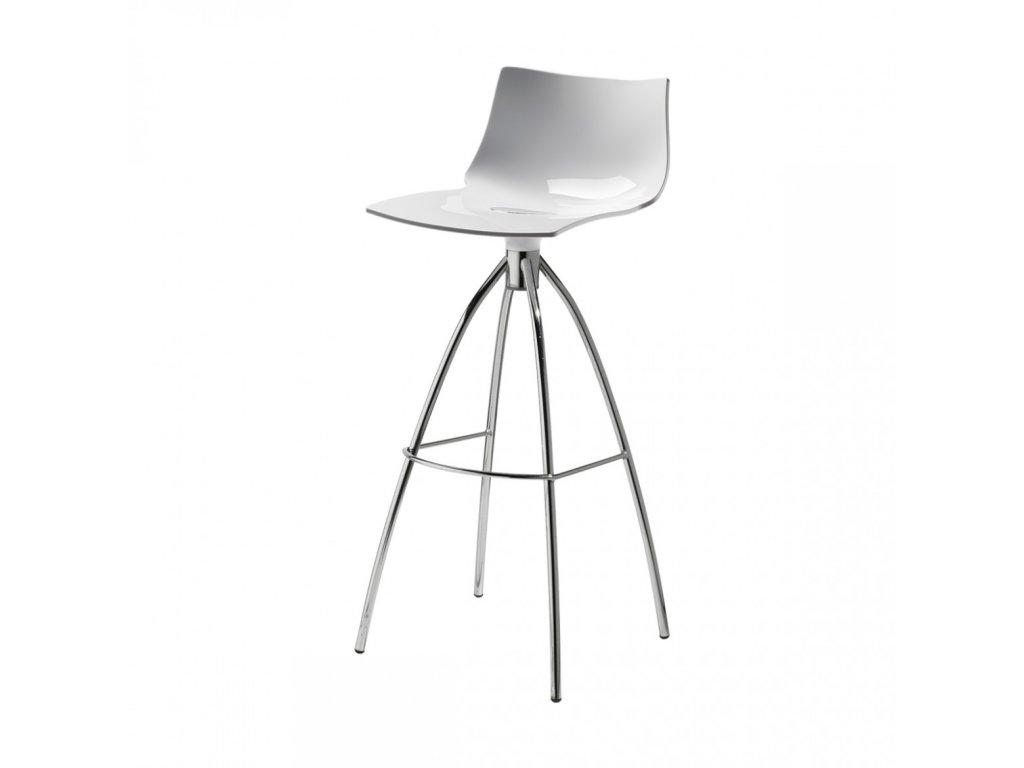 SCAB barová plastová židle DAYLIGHT bílá