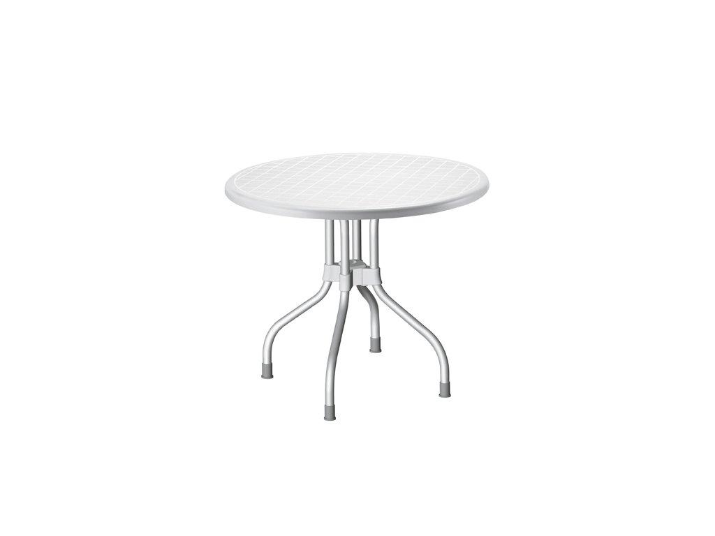 SCAB - plastový kulatý zahradní stůl RIBALTO, top průměr 95 cm
