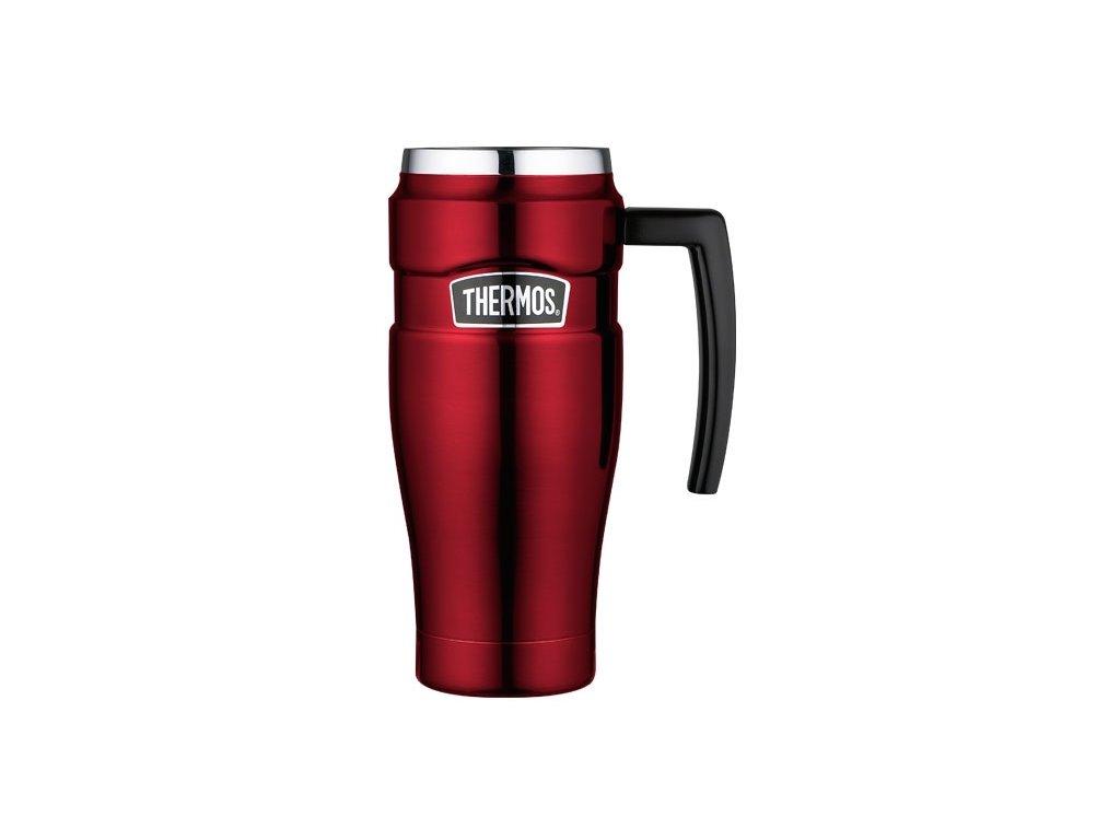 Thermos - nerezový termohrnek s madlem 470 ml červený