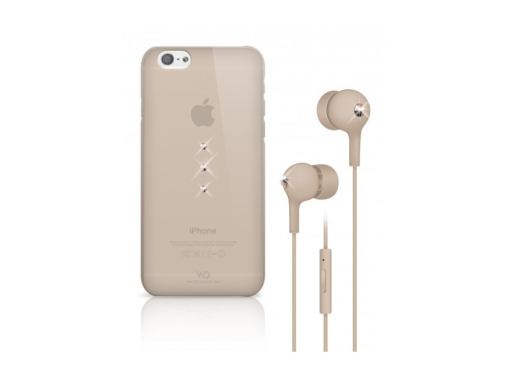 White Diamonds Crystal Earphone kryt pro iPhone 6 zlatý